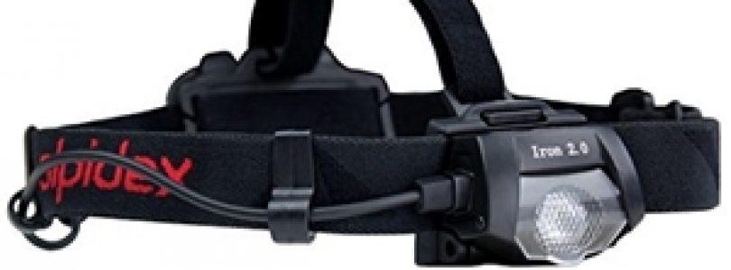 """Alpidex Iron 2.0: la torcia frontale """"di ferro""""."""